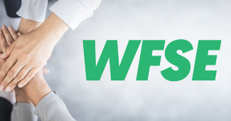 hands and the WFSE logo