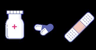 pills band-aid bottle